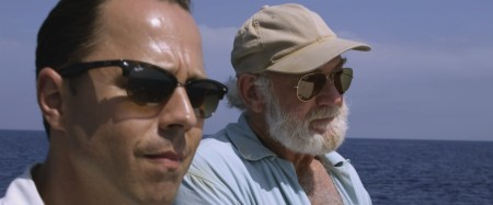 "Giovanni Ribisi and Adrian Sparks in a scene from ""Papa: Hemingway in Cuba"""