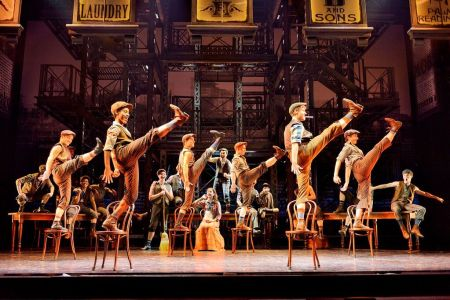 "Original company, North American Tour of Disney's ""Newsies."" ©Disney. Photo by Deen van Meer"