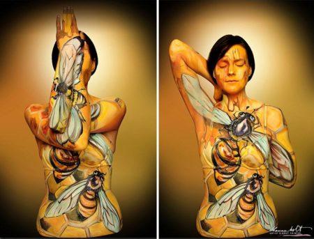 SpringSprung. Shannon Holt Artist & Body Art. Photo courtesy of Ben Martens and SpringSprung.