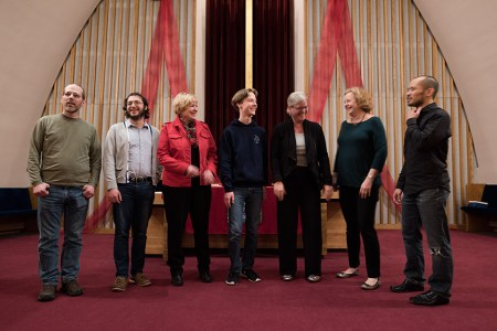 Cascadia Composers deserve a bow. Photo: Troi Anderson.