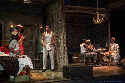 "Flickering desire: ""Streetcar"" at Portland Center Stage. Photo: Patrick Weishampel/blankeye.tv."