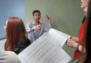 A3 Choir Director Torrey Newhart. Photo: Andy Nelson/The Register-Guard.