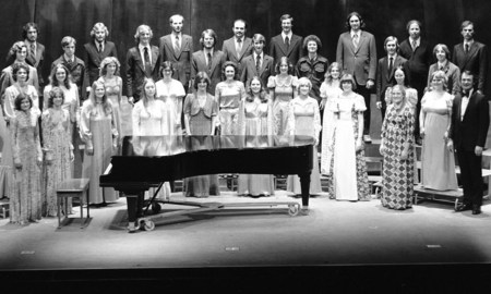 PSU Chamber Choir at its 1976 founding.