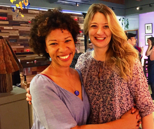 Heidi Schreck (right) With Actor Ayanna Berkshire At Artists Rep. Photo:  Nicole