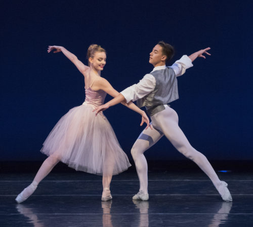 "Medea Cullumbine-Robertson and Ethan Myers in ""Valsa-Fantaisie."" Photo: Blaine Truitt Covert"