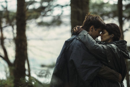 """Colin Farrell and Rachel Weisz in """"The Lobster."""""""