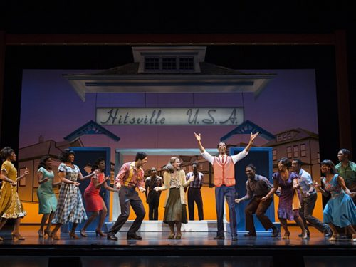Julius Thomas III as Berry Gordy & cast. Photo: Joan Marcus