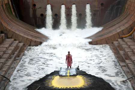 """The water flows in """"River of Fundament."""""""