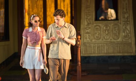 "Kristen Stewart and Jesse Eisenberg in Woody Allen's ""Cafe Society"""