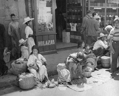 """Market Day: A Family Affair,"" Tamazunchale, Mexico, photo by Katherine Joseph, 1941; © Richard Herzberg and Suzanne Hertzberg; photograph courtesy of the Archives Center, National Museum of American History, Smithsonian Institution"