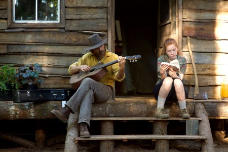 (l to r) Viggo Mortensen stars as Ben and Annalise Basso as Vespyr in CAPTAIN FANTASTIC, a Bleecker Street release. Credit: Wilson Webb / Bleecker Street