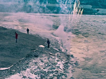 "A scene from Jia Zhangke's ""Mountain May Depart"""