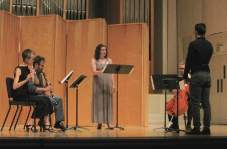 """""""My House Is Ancient"""" by composer/conductor Daniel Daly performed at the 2016 Composers Symposium by guest artists Molly Barth (flute), James Shields (clarinet), Esteli Gomez (soprano) and composer/performer Ramsey Sadak (cello)."""