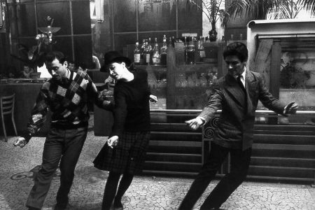 """Claude Brasseur, Anna Karina, and Sami Frey in """"Band of Outsiders"""""""