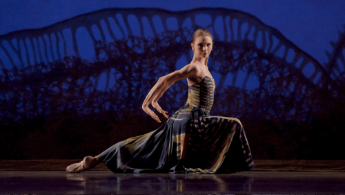 "Gavin Larsen in Val Caniparoli's ""Lamberena"" at Oregon Ballet Theatre. Photo: Blaine Truitt Covert"