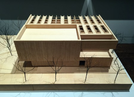 "Model of the Clyfford Still museum in Denver, part of ""Case Work""/Photo by Brian Libby"