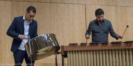 Akiho and Rosenbaum at Chamber Music Northwest. Photo: