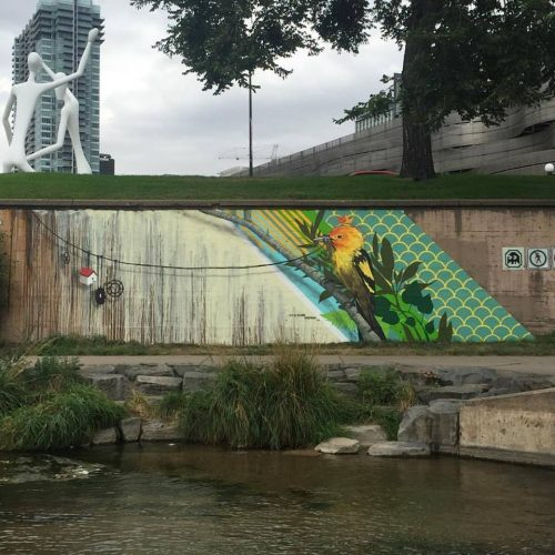 Blaine Fontana's mural for the Cherry Creek Bike Path in Denver.