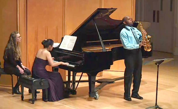 Live From Beall: Otis Murphy (Saxophone) and Haruko Murphy (Piano) May 17, 2016.