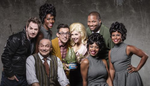 "Aiding and abetting world domination at Portland Center Stage: the cast of ""Little Shop of Horrors."" Photo: Kate Szrom"
