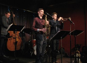 Jared Yakel quintet performs at the Jazz Station.