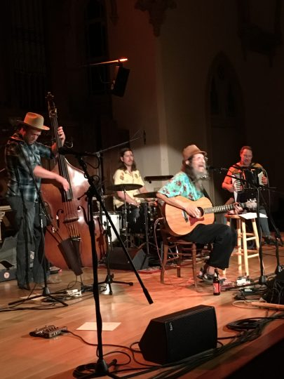 Brian Cutean and band performed at Portland's Old Church concert hall. Photo: Daniel Flessas.