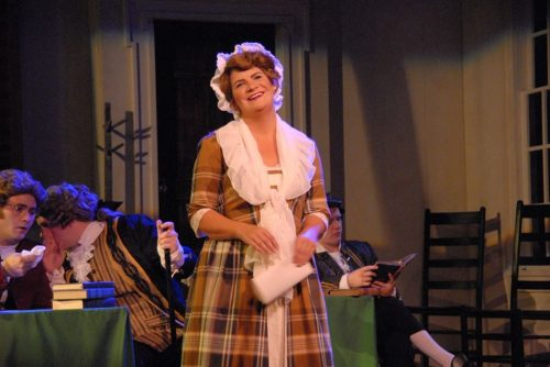 Dru Rutledge as Abigail Adams: adding a touch of personal to the political. Triumph Photography