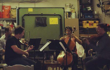 Third Angle string quartet. Photo: Evan Lewis.