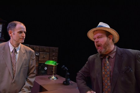 Sean Doran and Todd Van Voris in Imago's 'Hughie.'