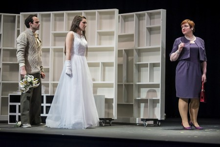 Love triangle: St. Cyr, Jacques and Colbourne in 'The Graduate.' Photo: Casey Campbell.