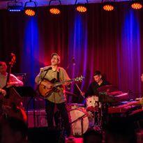 Dan Balmer joins Trio Subtonic's CD release party.