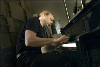 Denis Kozhukhin performs at Portland Piano International. Photo: Felix Broede.