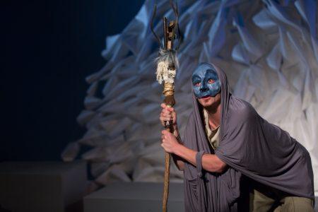 Matthew Kerrigan as an oracle in 'Iphigenia.'