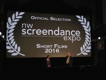 Welcome by Screendance Expo founders and producers John Watson and Dorene Carroll. Photo: Gary Ferrington.