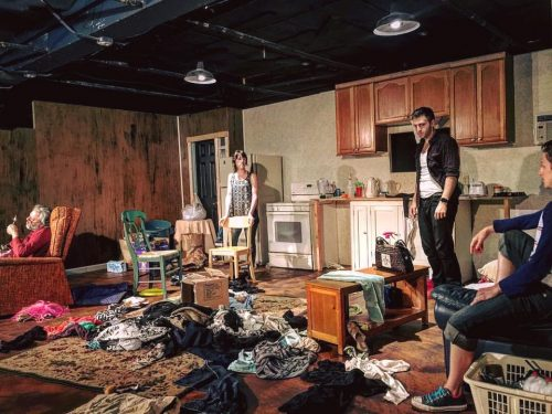 "The mess sprawls beyond the kitchen sink in ""Hir."" Defunkt Theatre photo"