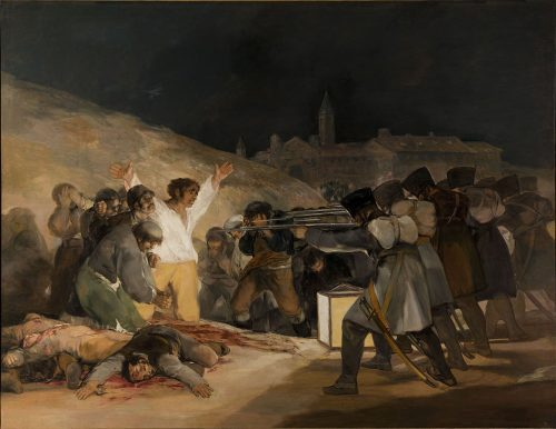 "Francisco Goya, ""The Third of May,"" 1814, oil on canvas, Prado Museum, Madrid. Wikimedia Commons"