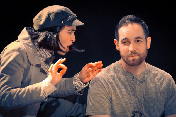 Timothy Fodge and Caitlyn Lushington play Orlando and his disguised love interest Rosalind.