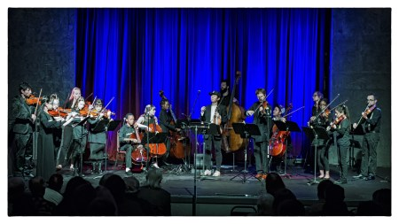 Members of Bravo Youth Orchestra joined collectif9 at Portland's Alberta Rose Theatre. Photo: Steve Billow.