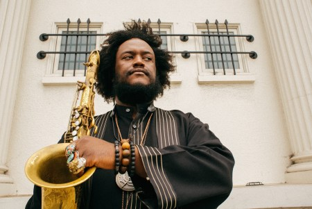 Kamasi Washington performs in Portland Thursday.