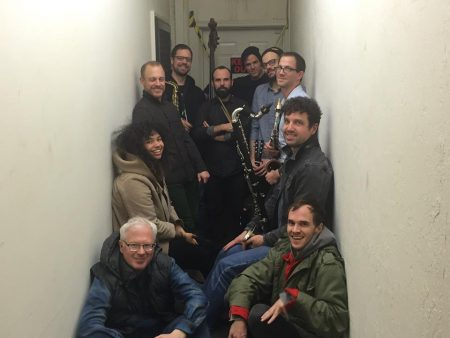 John Niekrasz, center with drum sticks, has assembled another edition of Orchestra Becomes Radicalized, playing at Holocene on Wednesday.
