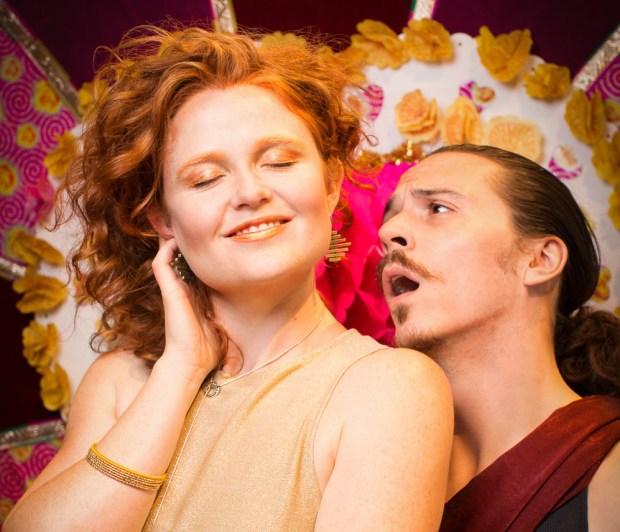 Rebecca Ridenour as Venus and Matthew Kerrigan as Adonis. Photo credit: Gary Norman.
