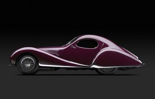 Talbot-Lago T-150C-SS Teardrop Coupe, 1938. Photo: Michael Furman. Courtesy of Mullin Automotive Museum Foundation.