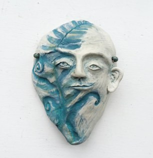 """Carlton artist Amy Brodie-Scout has several sculptural pieces in the """"Making Faces"""" show at the Marilyn Affolter Fine Art Gallery in McMinnville."""