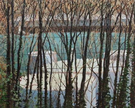 """Tanks on the Columbia"" by Carola Penn, 2011, acrylic/wood, 48"" x60"""