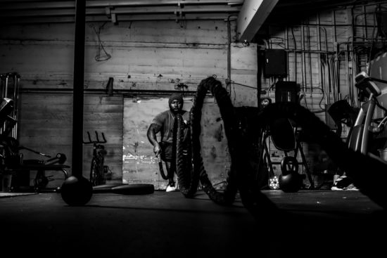 """Waves of Intent"" is one of the images in McAdams' ""Black Santa Project."" In his artist's statement, McAdams writes: ""Black Santa symbolizes the good in all of us, the want and need to be recognized for hard work, and the belief that we all have the power to create positive energy…"""