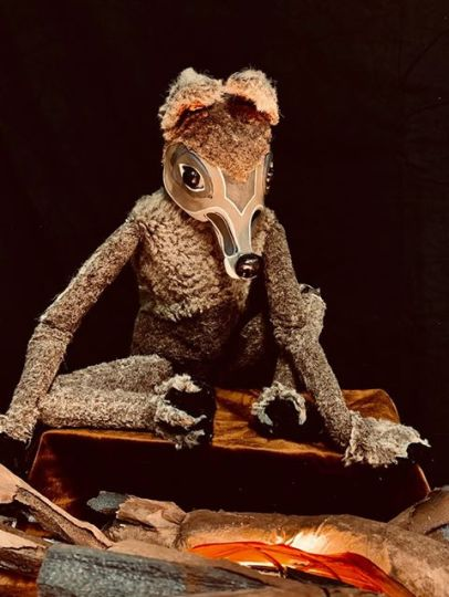 A character from Tears of Joy Puppet Theatre's Legends of Coyote.