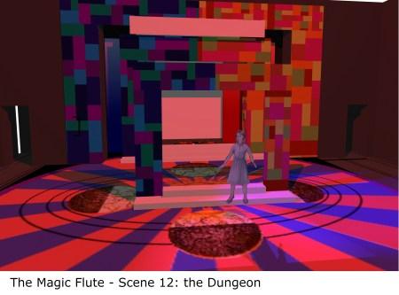 Magic Flute set design by Robert Vaughn for Aquilon Music Festival 2019.