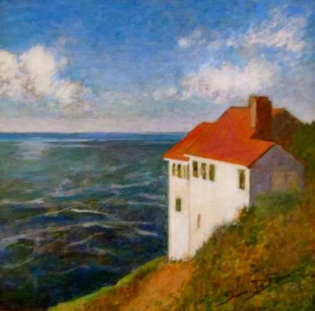 """""""Cape Foulweather"""" by Susan DeRosa is among the pieces in a Newport Visual Arts Center show celebrating four decades of the Sandgren PaintOut Project."""