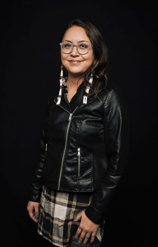 """""""The Modoc are a resilient, fierce, passionate people,"""" says Ka'ila Farrell-Smith, """"whose warrior ancestors inspire us in our current fight against the fossil-fuel industry"""" and the fracked gas pipeline that threatens ancestral homelands and waterways in Southern Oregon. Photo by Sam Gehrke Photography Studio, courtesy Ka'ila Farrell-Smith"""