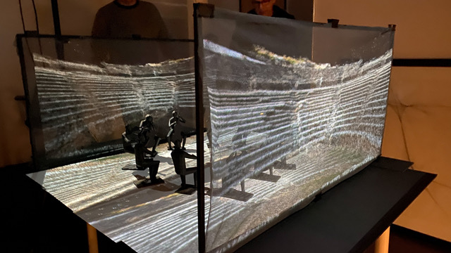 Prototype of 45th Parallel's 'Les Boreades' performance space, designed by Brad Johnson and Glowbox. Photo courtesy of 45th Parallel.